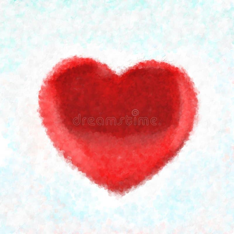 покрашенное сердце бесплатная иллюстрация