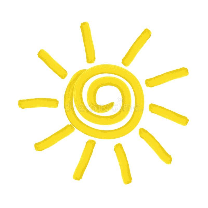 Покрашенное солнце - иллюстрация иллюстрация вектора