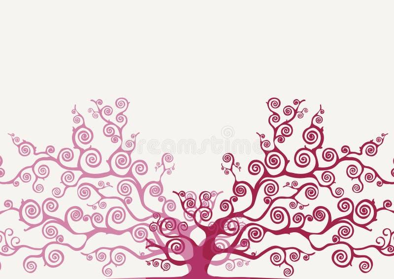 Покрашенное стилизованное дерево иллюстрация вектора