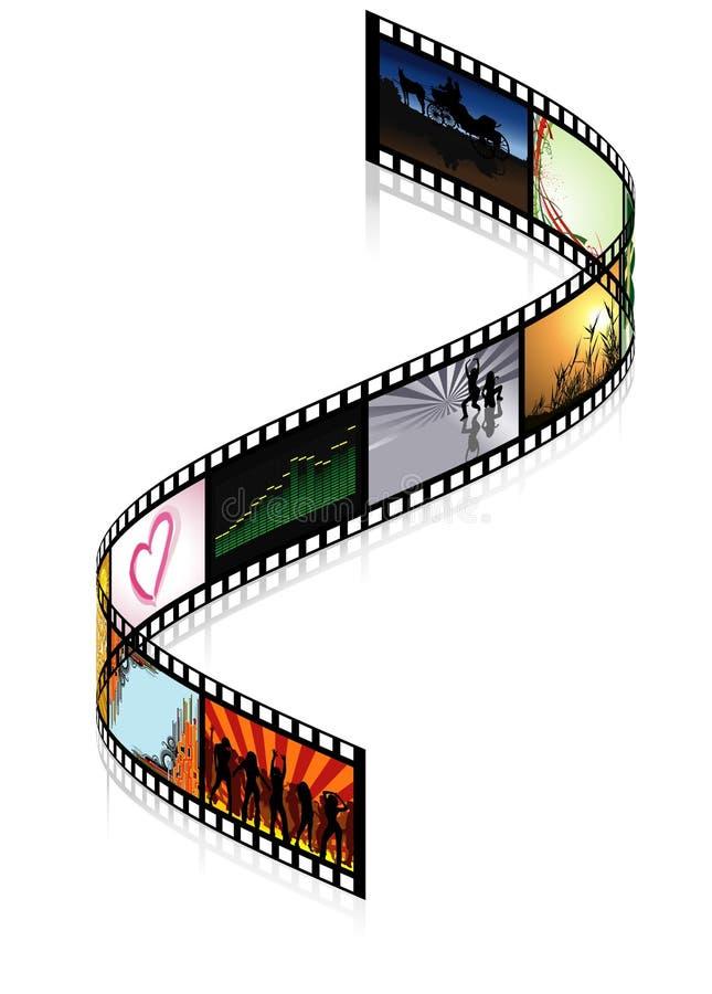 покрашенное filmstrip иллюстрация вектора