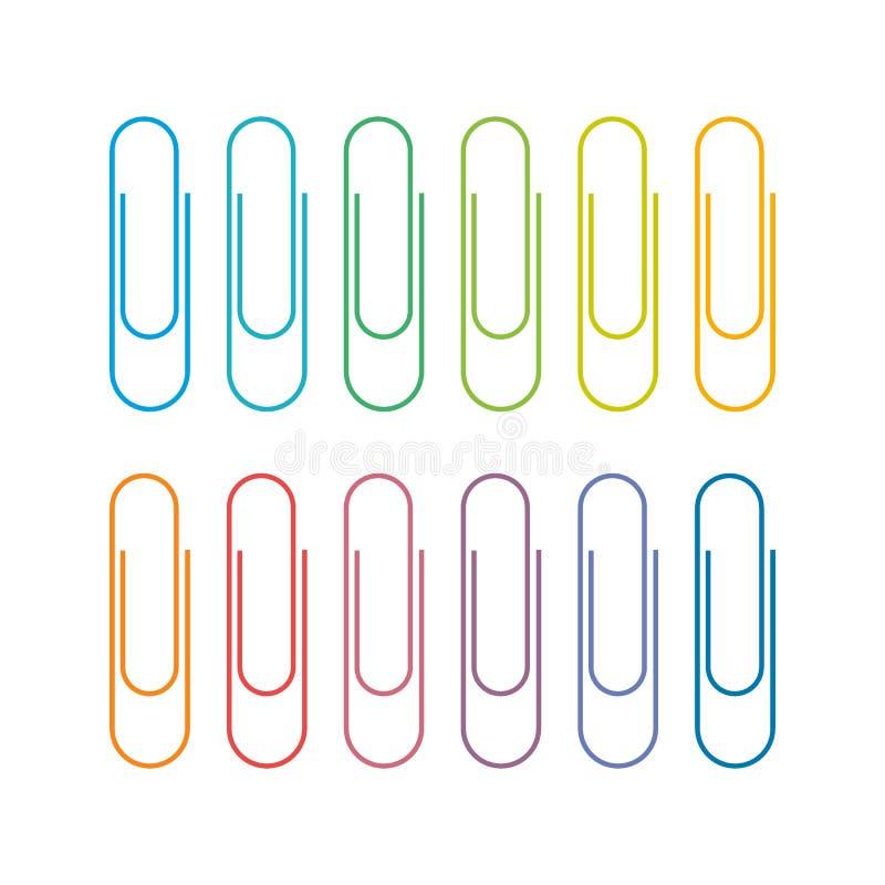 Покрашенное Multi бумажного зажима также вектор иллюстрации притяжки corel бесплатная иллюстрация