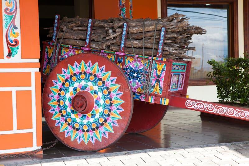 Покрашенное oxcart, Sarchi/Коста-Рика стоковые фотографии rf