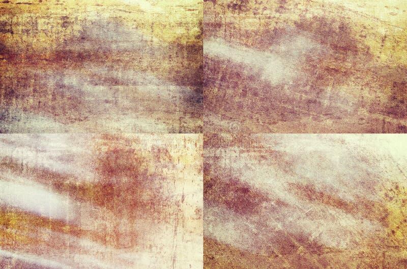 Покрашенные апельсином предпосылки текстуры grunge стоковое изображение rf