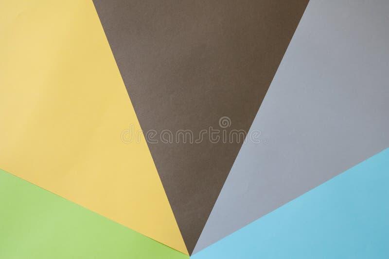 покрашенные бумаги стоковая фотография rf