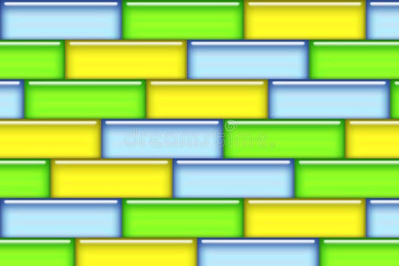покрашенные блоки иллюстрация штока