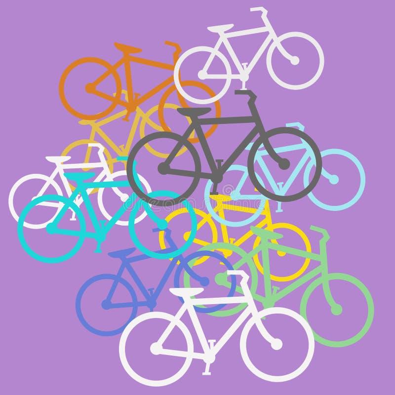 Покрашенные велосипеды иллюстрация вектора