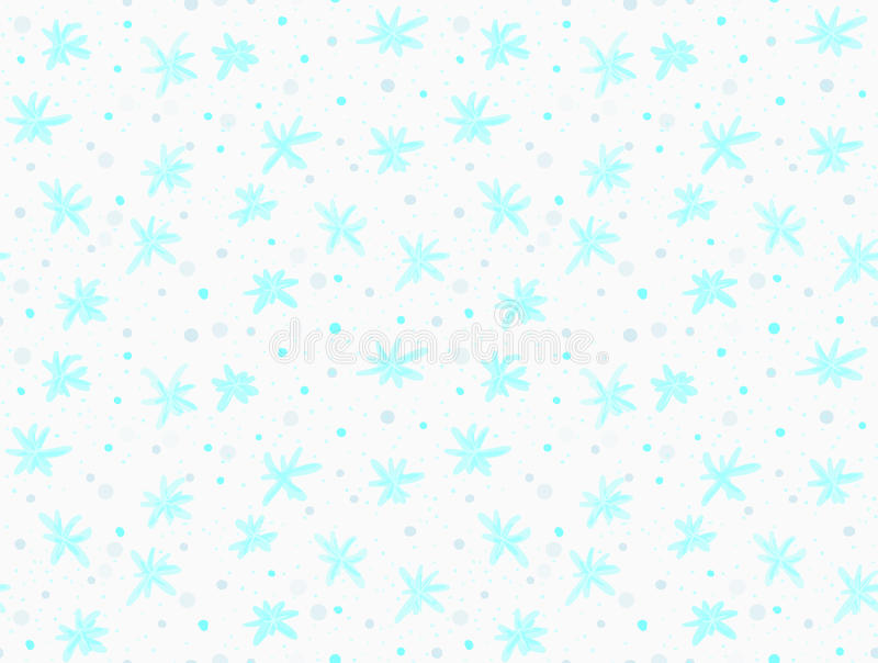 Покрашенные голубые снежинки с точками бесплатная иллюстрация