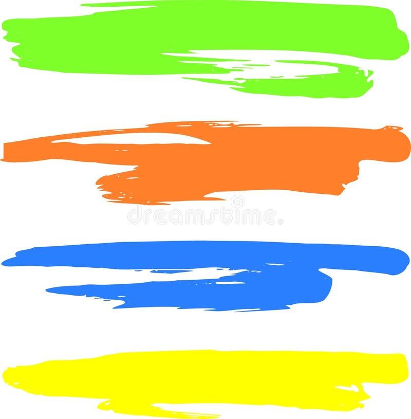покрашенные знамена иллюстрация вектора