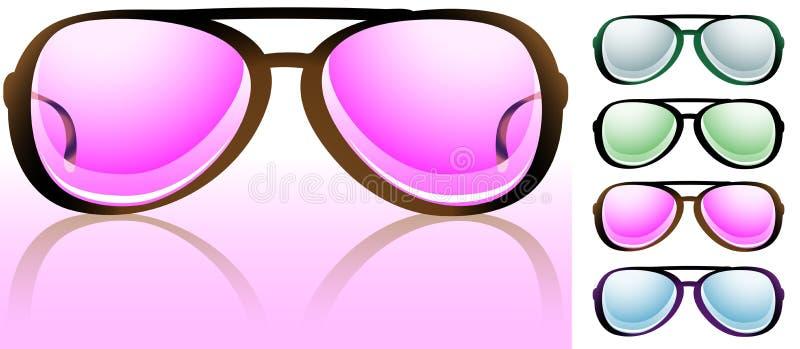 покрашенные зрелища взгляда розовые бесплатная иллюстрация