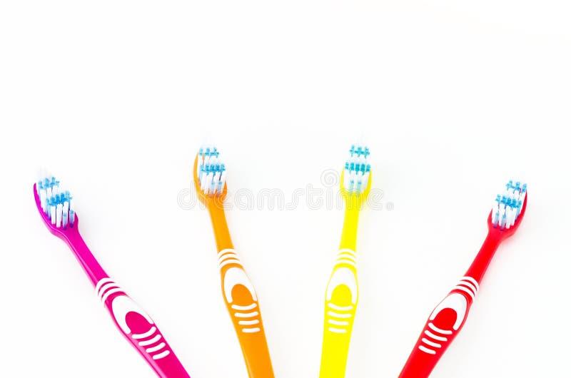 покрашенные зубные щетки стоковое фото