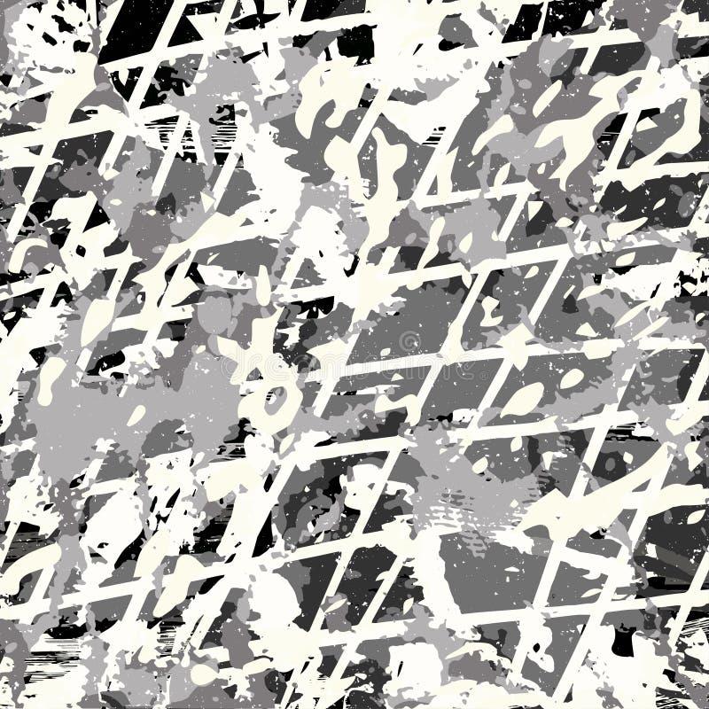 Покрашенные линии картина граффити на черной иллюстрации вектора предпосылки иллюстрация вектора