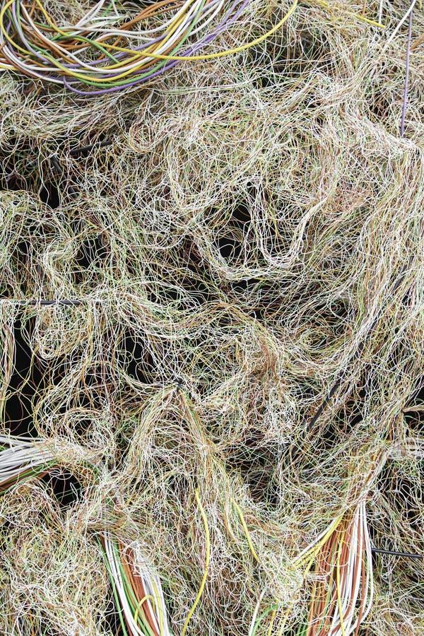 Покрашенные кабели стоковое фото rf