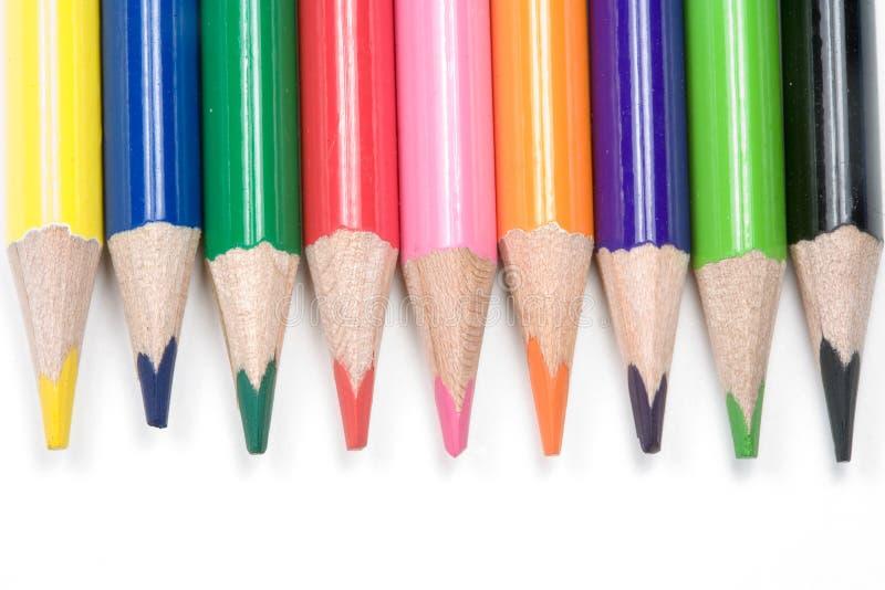 Download покрашенные карандаши стоковое фото. изображение насчитывающей пинк - 478212