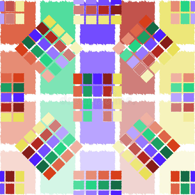 покрашенные квадраты иллюстрация штока