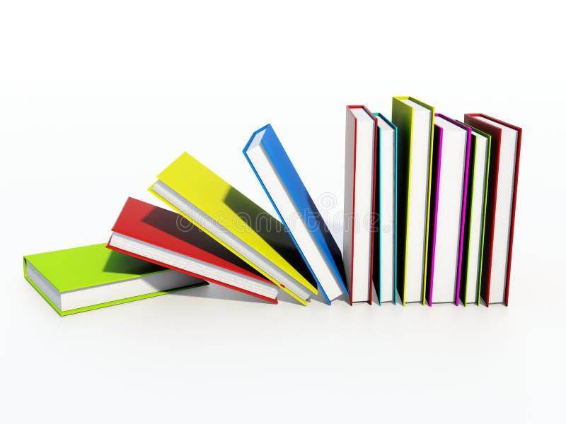 покрашенные книги иллюстрация вектора