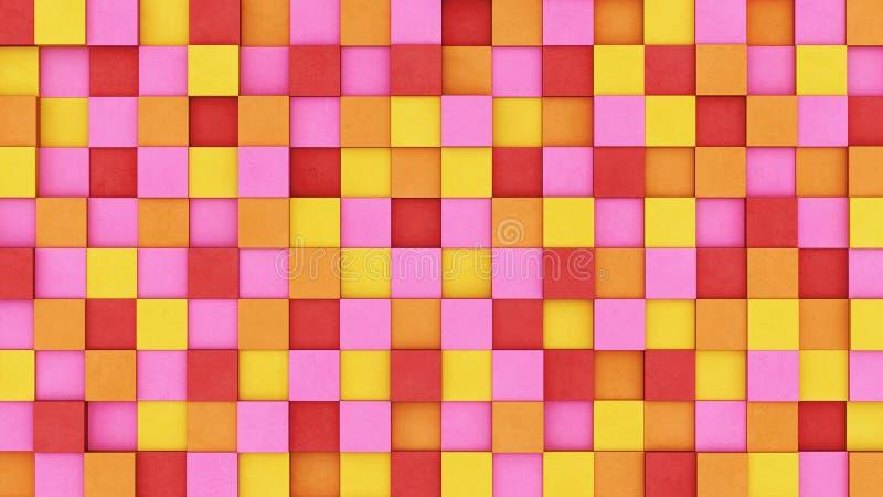 Покрашенные конкретные кубы иллюстрация штока