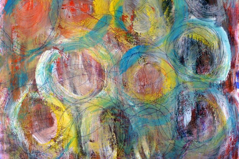 покрашенные круги Ходы краски цветастое предпосылки яркое иллюстрация вектора