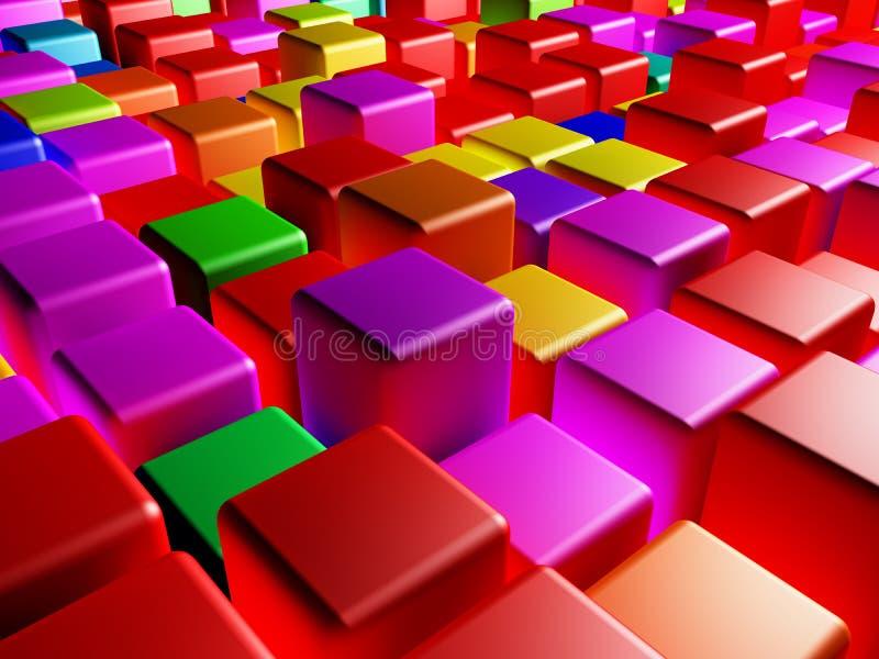 Покрашенные кубики бесплатная иллюстрация