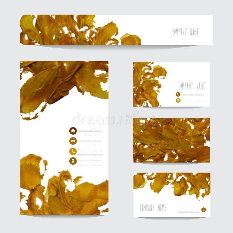 Покрашенные маслом визитные карточки бесплатная иллюстрация