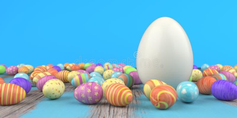 Покрашенные пасхальные яйца иллюстрация штока