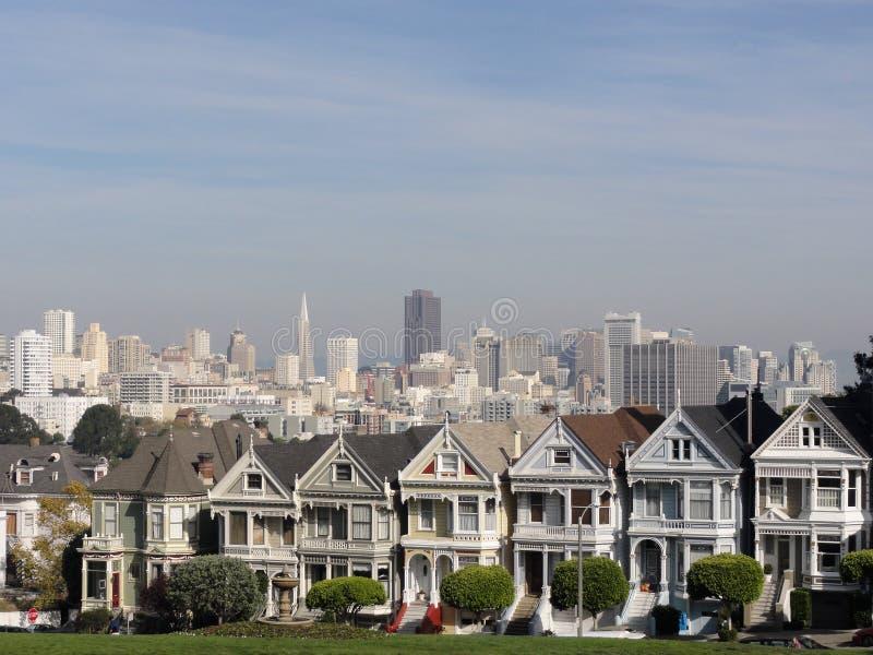 Покрашенные повелительницы San Francisco стоковое изображение rf