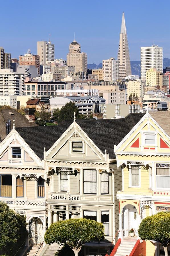 Покрашенные повелительницы San Francisco стоковые фотографии rf