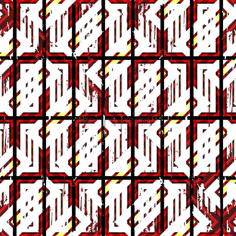 Покрашенные полигоны на темной текстуре предпосылки grunge бесплатная иллюстрация