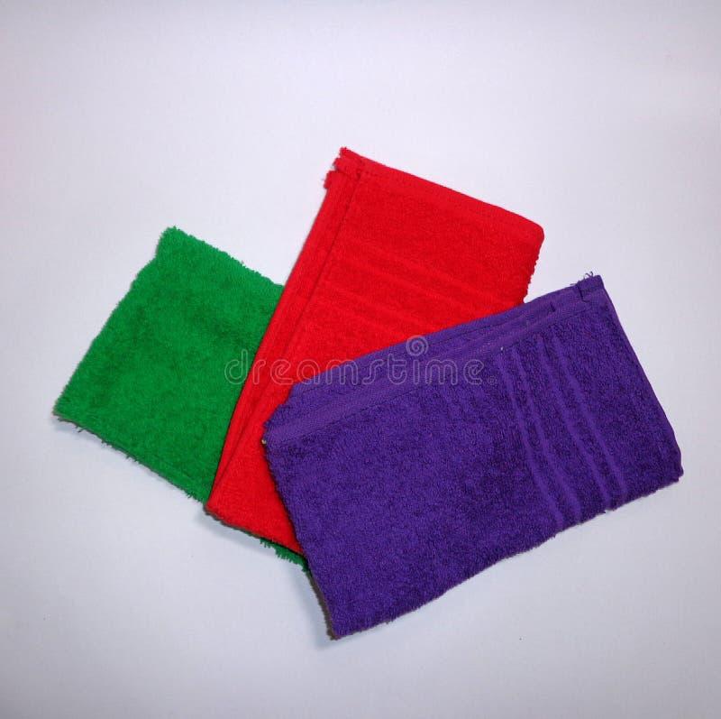 покрашенные полотенца стоковое фото rf