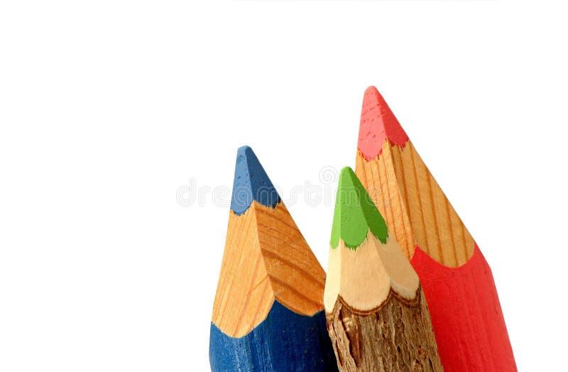 Покрашенные подсказки карандаша стоковое изображение rf