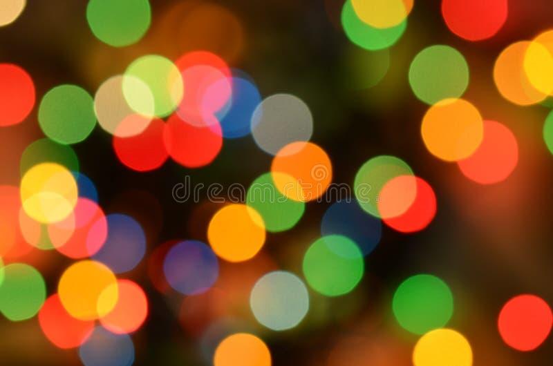 Покрашенные света в праздничной атмосфере стоковая фотография rf