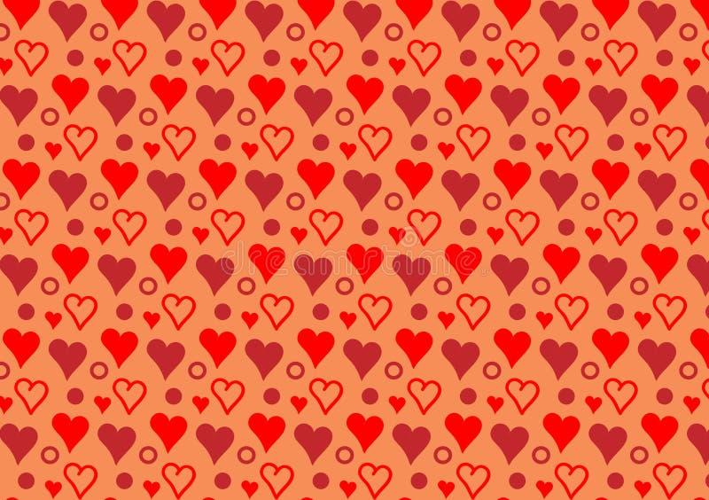 Покрашенные сердца и обои картины кругов бесплатная иллюстрация