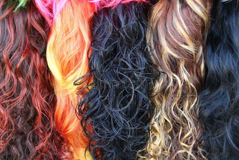 покрашенные стога волос стоковые фото