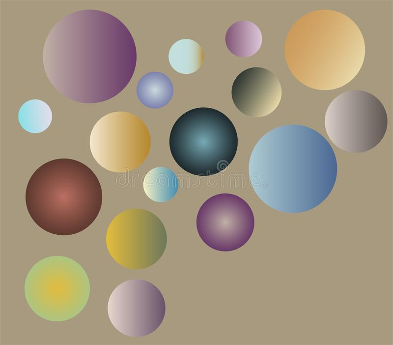 Покрашенные сферы с влиянием градиента стоковая фотография
