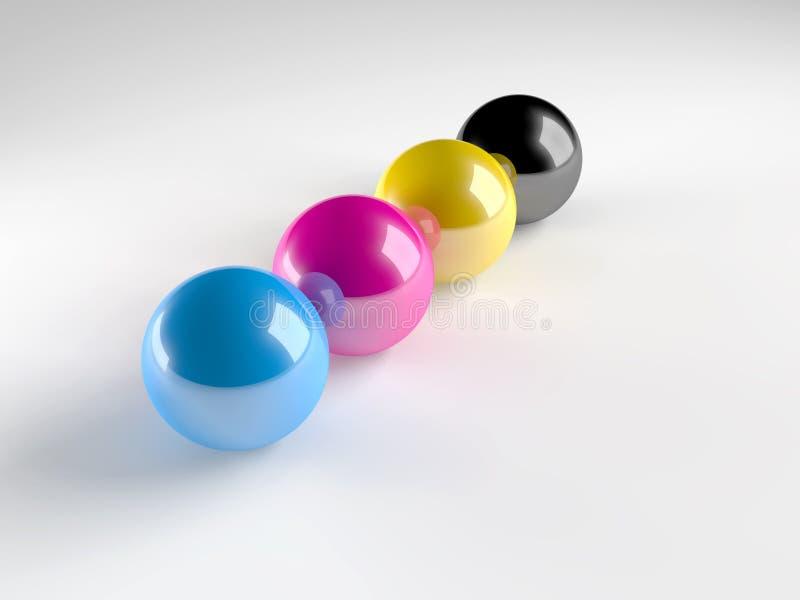 покрашенные сферы иллюстрация штока