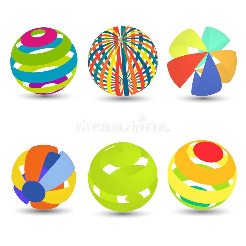 Покрашенные сферы 3d бесплатная иллюстрация