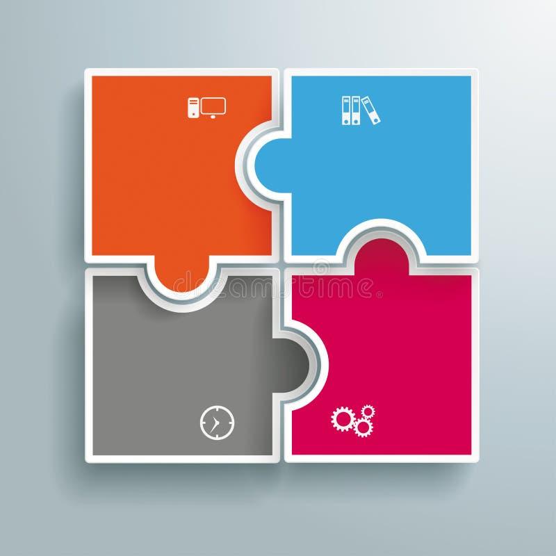 Покрашенные сферы Infographic головоломки иллюстрация штока