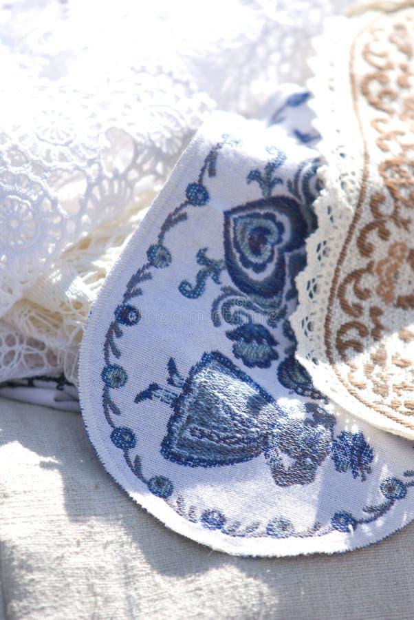 покрашенные ткани стоковые изображения rf