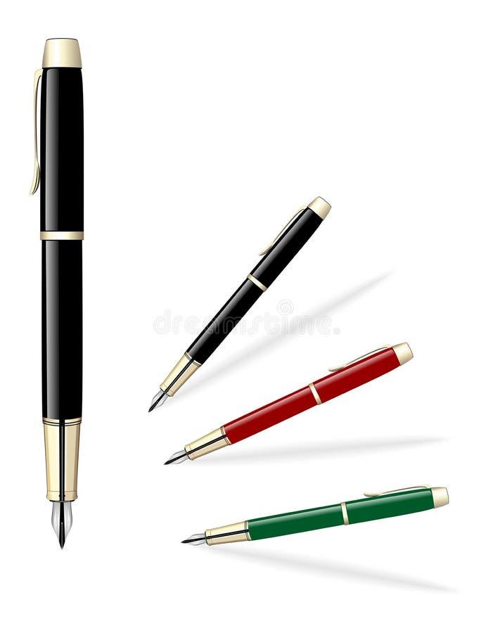 покрашенные установленные перя также вектор иллюстрации притяжки corel иллюстрация штока