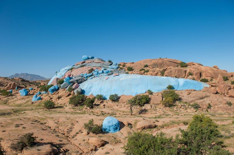 Покрашенные утесы, Tafraoute, Марокко стоковые фото