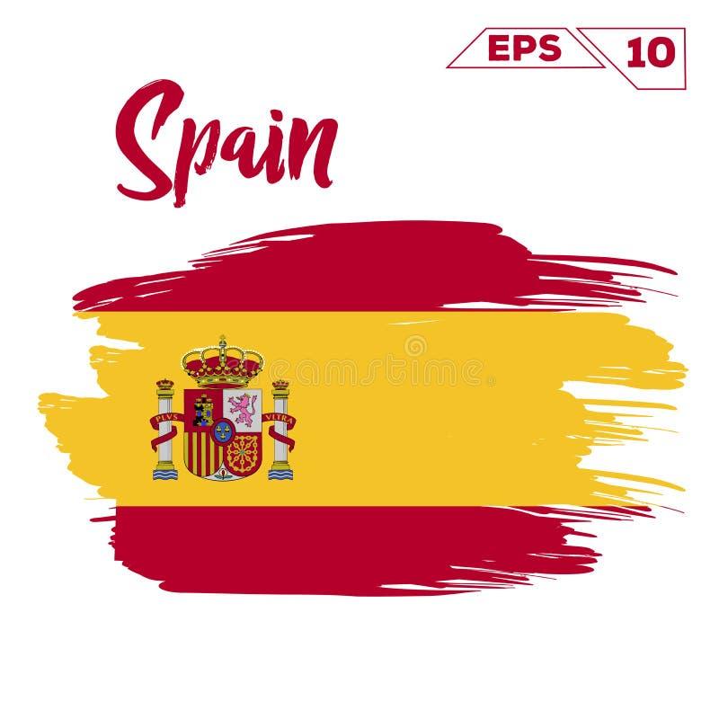 Покрашенные ходы щетки флага Испании бесплатная иллюстрация