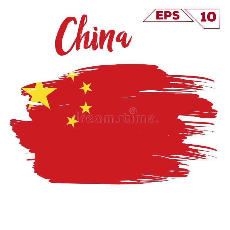 Покрашенные ходы щетки флага Китая бесплатная иллюстрация