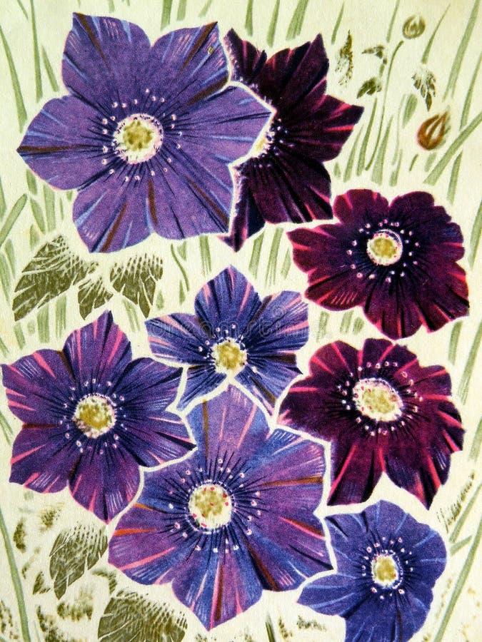 покрашенные цветки стоковое изображение
