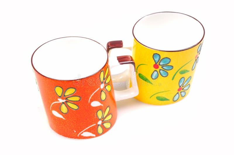 покрашенные чашки стоковое фото rf