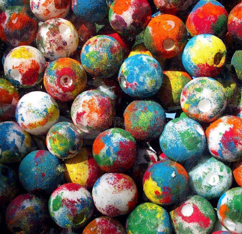 покрашенные шарики Стоковые Фото