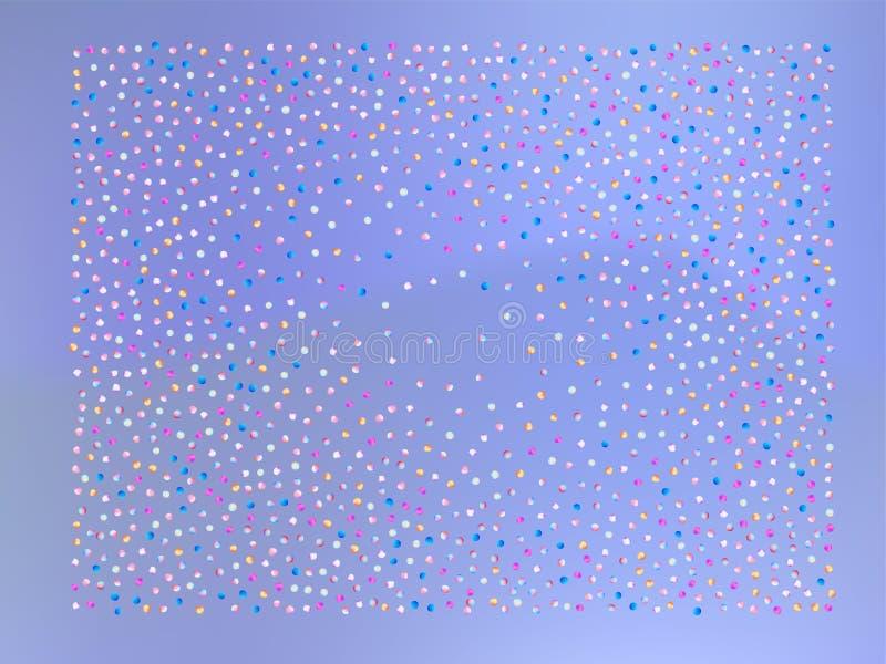 Покрашенные шарики confetti, звезда иллюстрация вектора