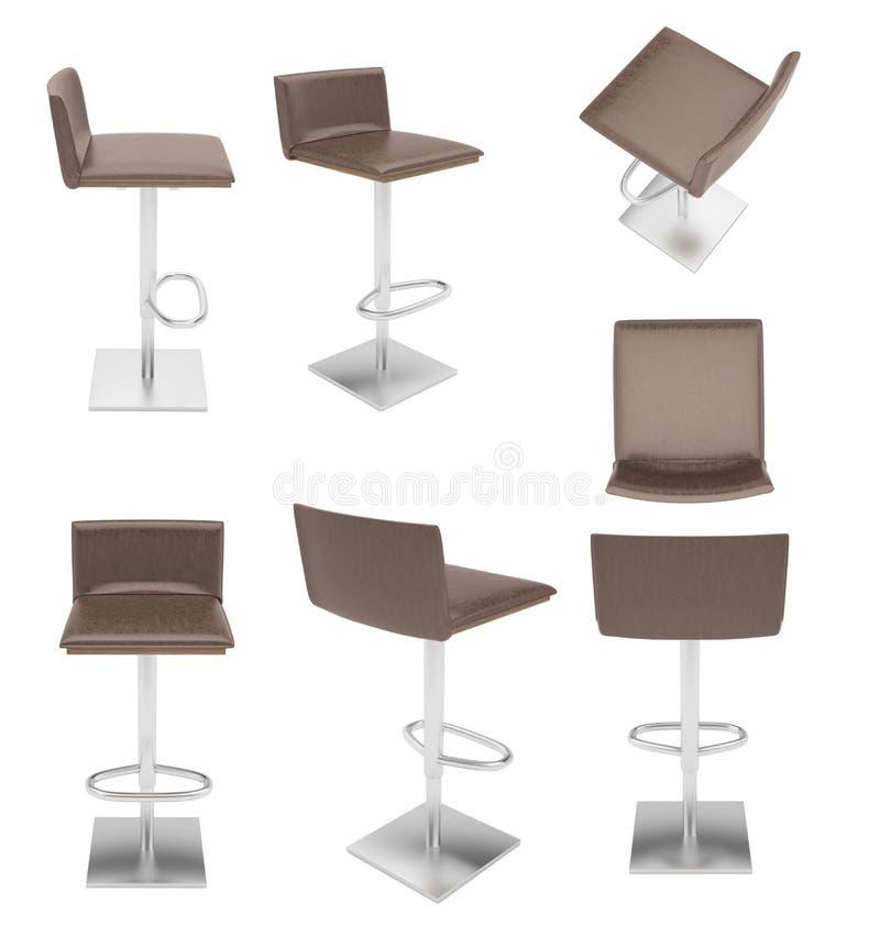 Покрашенный барный стул 8 бесплатная иллюстрация