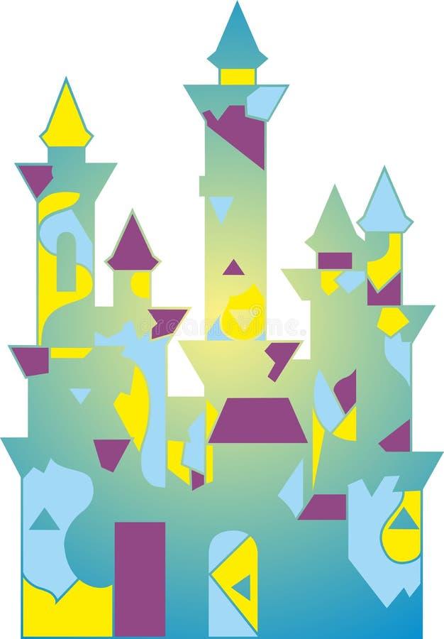 Покрашенный дворец сказки иллюстрация штока