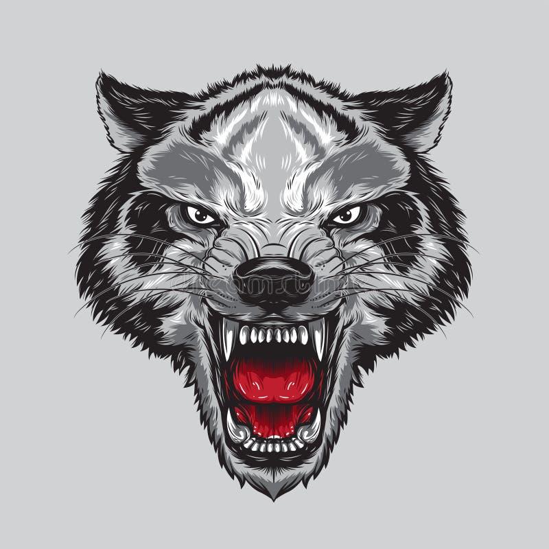 Покрашенный волк стоковое изображение