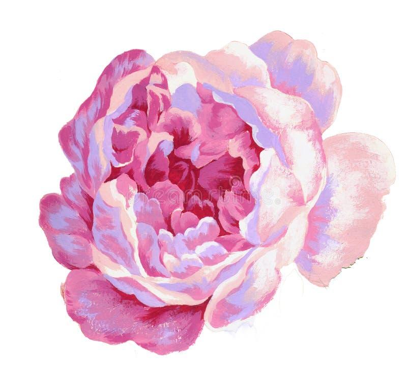 Покрашенный вручную материал цветка акварели, красивая выбитая картина, европейский затенять текстуры картины стоковое изображение