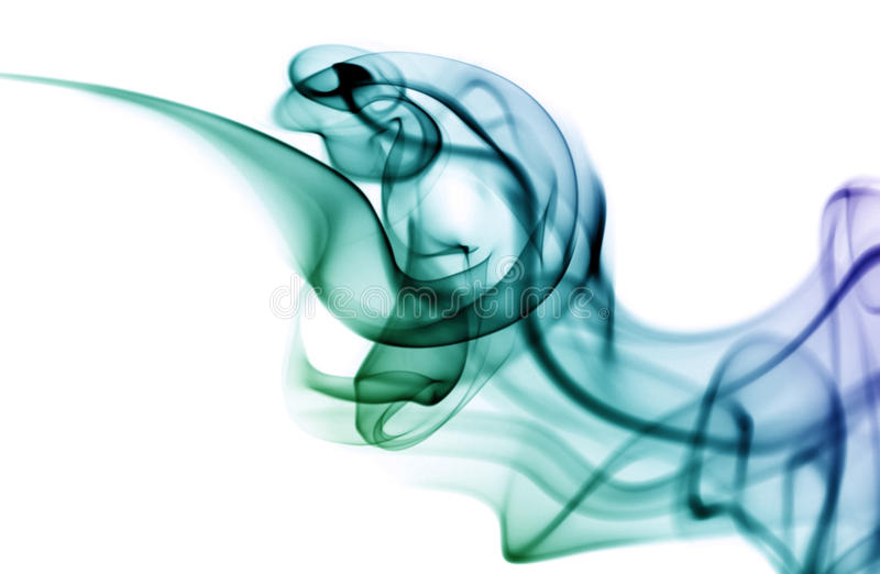 покрашенный дым стоковая фотография rf